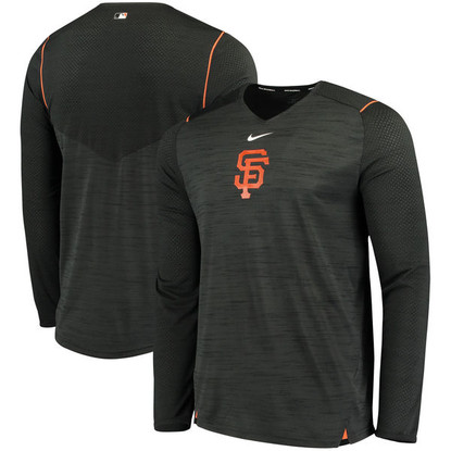 d01ddc949 Men's San Francisco Giants Nike Black AC Breathe Long Sleeve Performance T- Shirt - Sports Fever