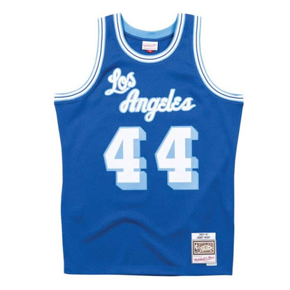 Men's Los Angeles Lakers Jerry West Mitchell & Ness Blue Hardwood ...