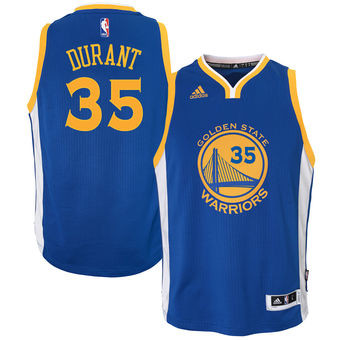 new arrival 7d00c 6f612 Kevin Durant Youth Golden State warriors Road Blue Swingman ...