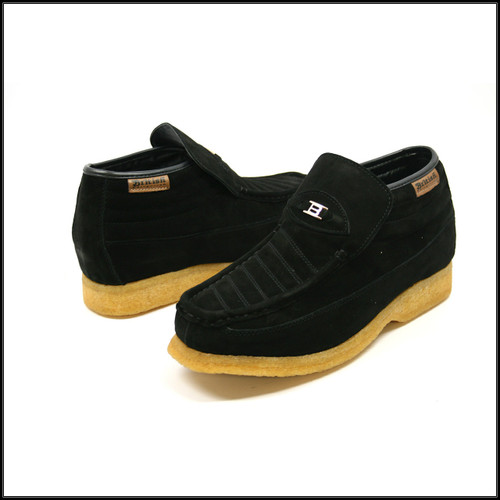 British Collection-Liberty Black Suede Slip-on
