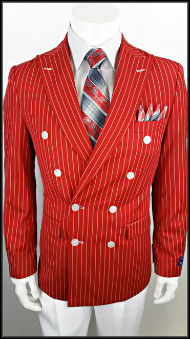 Includes a matching Pinstripe Pants and White Pants.