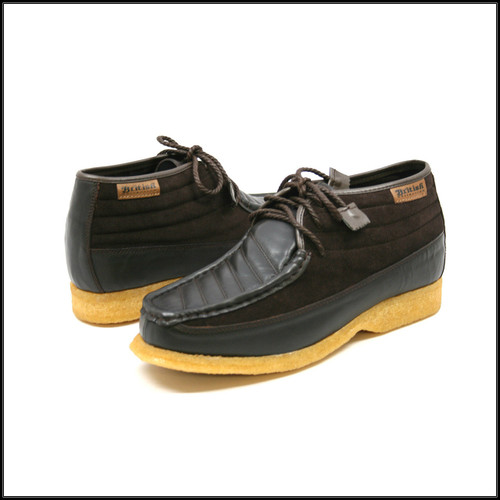 British Collection Castle Brown Suede/Brown Leath Lace Up
