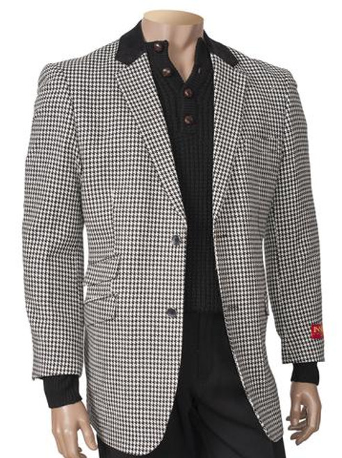 HOUNDSTOOTH BLAZER, BLACK AND WHITE. Prices are exclusive to online sales.