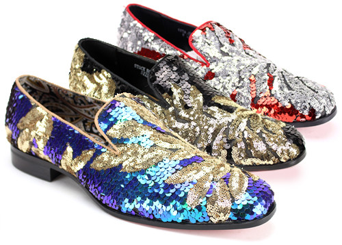 THIS SHOE COMES IN BLACK/SILVER PEACOCK/GOLD AND RED/SILVER. ANY OCCASION NO MATTER THE OUTFIT THIS SHOE WILL SUIT YOUR NEEDS. Prices are exclusive to online orders.