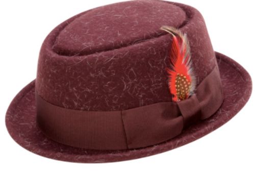 Featuring a real satin lining, this all Pork pie hat has the styles to make your moves come alive. Made of 100% Wool Felt. Prices are exclusive to online sales.