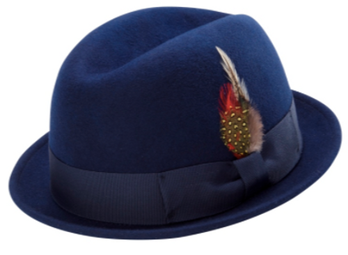 dbf49085063e8 MONTIQUE MEN S CENTER CRESE STINGY SNAP BRIM HARD FELT FEDORA HAT. Prices  are exclusive to