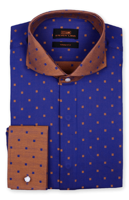 Steven Land 100% Cotton French Cuff Shirt Comes In A Variety Of Colors And Styles. Prices are exclusive to online sales.