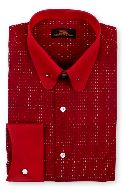 Steven Land 100% Cotton  Cuff Shirt Comes In A Variety Of Colors And Styles. Prices are exclusive to online sales.