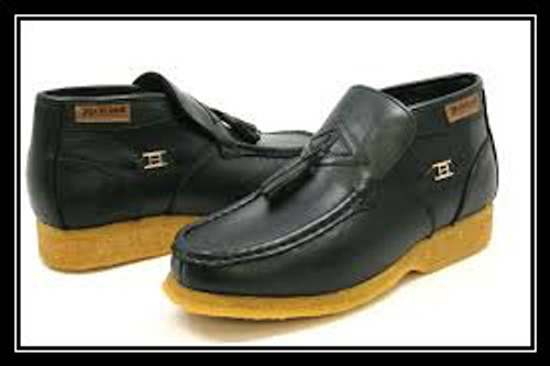 British Collection Palace-Black Leather Slip-on