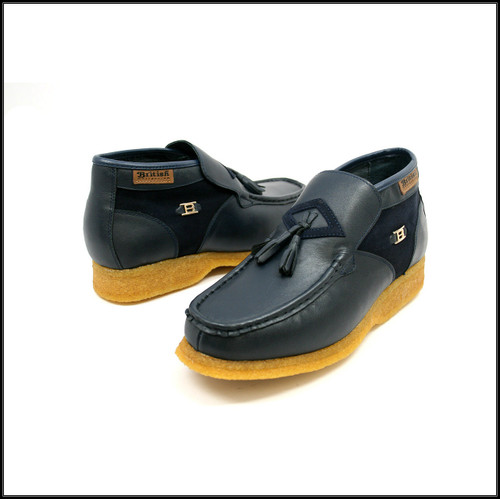 British Collection Palace-Navy Leather Slip-on