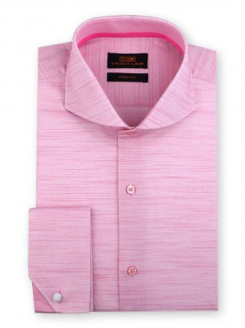 An innovative mixture of beautiful random hues run horizontally across this dress shirt, creating the illusion of a solid color and a texture simultaneously. Both elegant and surprising, and available in five shades. Prices are exclusive to online sales.
