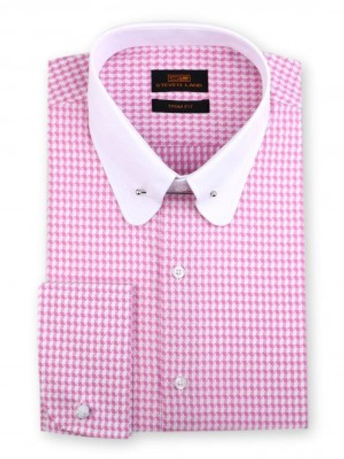 Our dynamic woven dobby shirt is a showcase of detail and texture. A contrasting club collar with tie bar balances out a handsome geometric woven shirt body. Prices are exclusive to online sales.