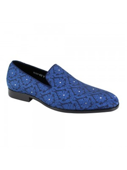 Designed for the most elegant of occasions, this slip-on is red carpet ready! Crafted of a beautiful jacquard fabric, it is also embellished with sparkling crystals. Prices are exclusive to online sales.