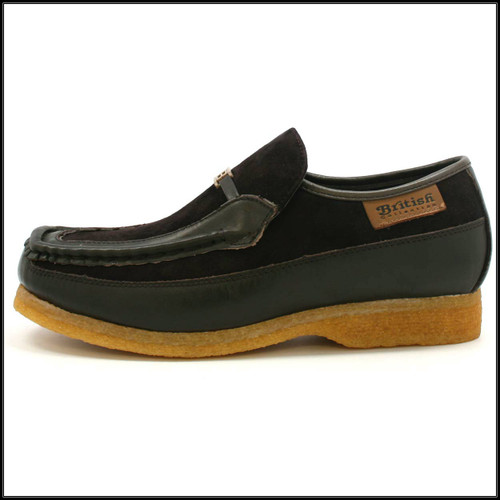 British Collection Power Old School Slip On Brown/Brown Shoes