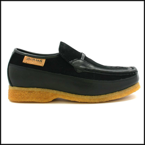 British Collection Power Old School Slip On Black/Black Shoes