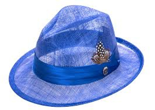 This mesh style hat is made by Montique and the light weight and breathable Sinamay straw hat will keep your head cool and you looking stylish.