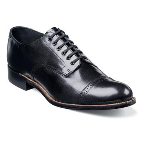 The Madison is a cap toe oxford.The upper is kidskin leather.The linings are kidskin leather.The insole is fully cushioned for added comfort.The sole is leather with genuine welt construction for comfort and durability.
