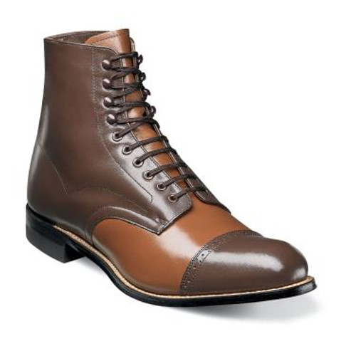 The Madison dress boot is the ideal shoe for any formal occasion. This dapper boot is versatile in that it can be worn to any upscale event, but is also trendy and wearable on more casual outings as well.