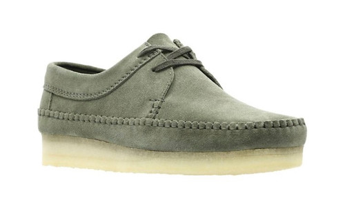 Using a true moccasin construction inspired by the Wallabee, the Weaver shoes are a Clarks Originals classic.Updated for the season with water resistant properties, the premium Scotchguard suede upper comes from the renowned Steads tannery while the unique whip stitch detail and our signature crepe sole finishes off the look.UPPER MATERIAL SuedeLINING MATERIAL LeatherSOLE MATERIAL MixedFASTENING TYPE Lace