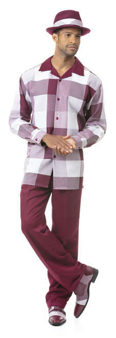 Montique‰Ûªs leisure suits are perfect for the man who prefers to be well dressed at every occasion. Montique is well known for their comfort and this suit is no different. It is made of very comfortable poly-fabric that doesn‰Ûªt restrict movement or make you feel like it is too hot out there.Block PatternPolyesterBreathable
