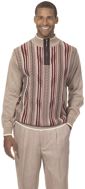 SOPHISTICATED CLASSIC STYLE - Beautiful designer sweaters made with great attention to detail. The colors on the front are carefuly chosen to match and contrast the main color of the sweater. The quarter zip sweater makes it easy to get dressed, you can keep the zipper to any clossure level you prefer.