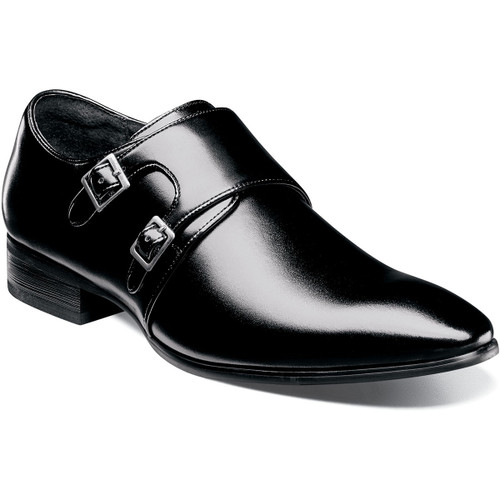 Subtle styling is the key to the Vance. This sleek, double monk strap has a beautifully burnished plain toe, elegant piping details along the strap and two antique silver buckles of varying sizes. Taken together they create a shoe that is understated but never overlooked.