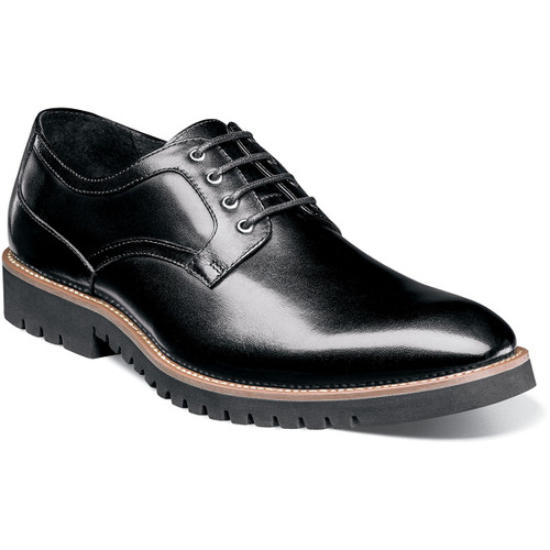 The first thing that strikes the eye on the Barclay is the beautiful contrast between the sleek, smooth leather upper and the stylish chunk sole. This fashion-forward, modern profile means it look right at home in the office or for a night on the town.Smooth leather upperFully cushioned insole with Memory Foam adds all-day comfortLeather lining for comfort and breathabilityLightweight EVA sole for added all-weather traction