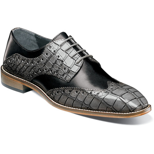 The upper of the Tomaselli combines smooth leather with a contrasting croco print on the wing and collar. This is a shoe that was created for the man who appreciates classic design yet wants to wear a modern masterpiece.