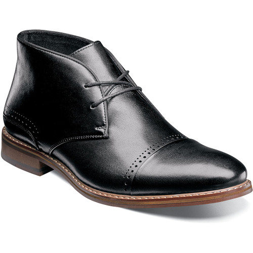 A shoe for all seasons and all reasons. Dress it up or down, this ultra-versatile boot always looks at home. The sleek clean lines and modern profile are highlighted by two elegant lines of perfing along the cap toe and on the backstay. A great go-to boot, wherever you go.Smooth leather upperFully cushioned insole with Memory Foam adds all-day comfortLeather lining for comfort and breathabilityNon-leather (Leather-look) dress Sole (Flexible, Durable)