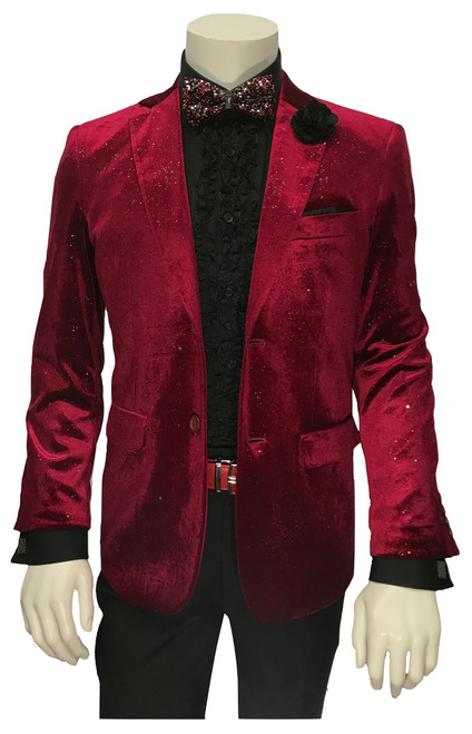 Solidify your signature style with this bold velvet dinner jacket from STACY ADAMS.