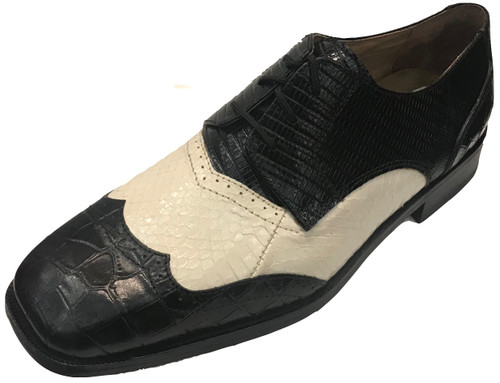 Genuine Snake & Leather Upper Leather Outsole.Balanced Manmade.Clearance.