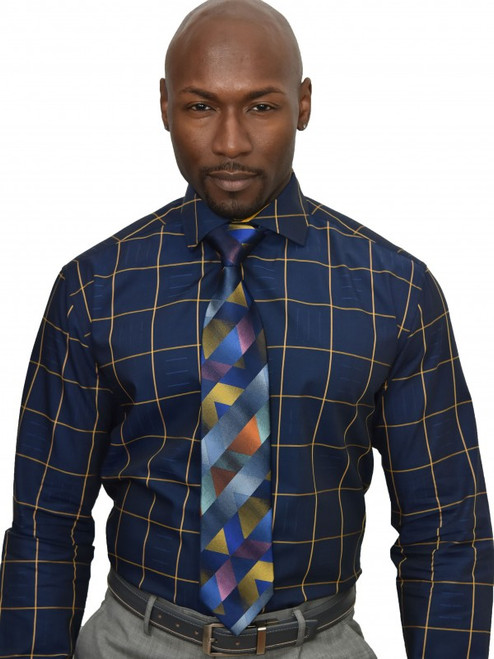 Textured Graph ShirtA clean graph is accented with a linear weave texture. Rendered in rich colors, this shirt is a new wardrobe staple.100% Cotton woven fabricClassic FitBig and Tall availableSpread CollarFrench CuffPlain Front