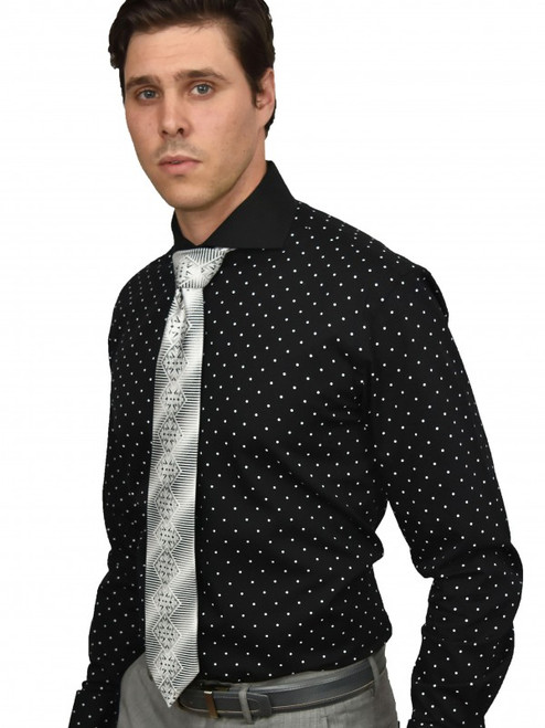 Herringbone Dots Shirt