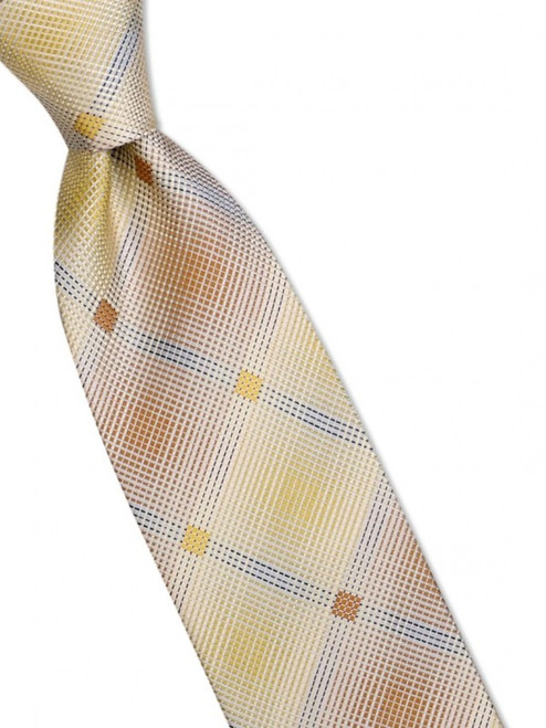 A dazzling shadow plaid is also a bold stripe on this 100% silk woven tie100% SilkIncludes Pocket Square61 inches long3 1/2 inches wid