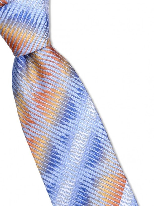 A bold mid-century trellis design is punctuated by stripes on this 100% silk woven tie100% SilkIncludes Pocket Square61 inches long3 1/2 inches wid