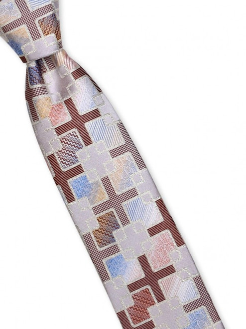 Adding lurex to the detailed weave creates glittery shimmer to this innovative silk woven tie 100% SilkIncludes Pocket Round61 inches long3 1/2 inches wid