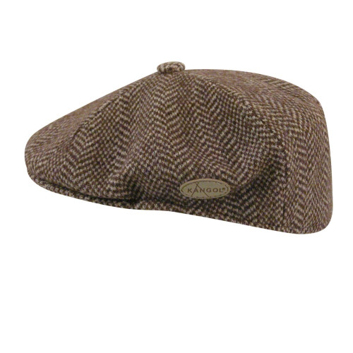 Kangol 0264KG Wool Herringbone 504 CAP. Brown
