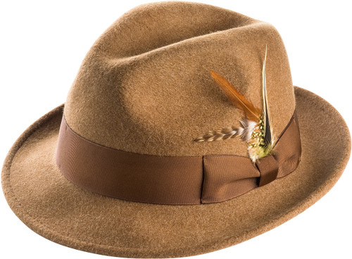 Montique's Men's Center Crease Snap Brim.