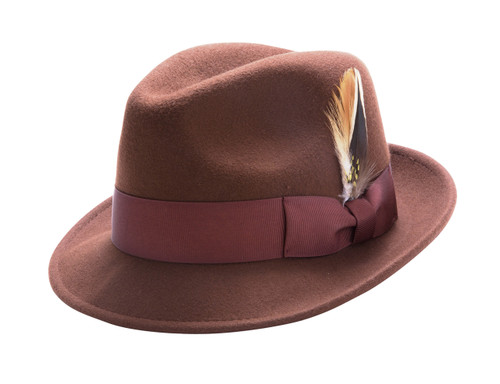Montique's Men's Center Crease Snap Brim Lightfelt.