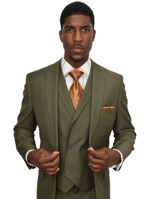 Walter |3 Piece Suit | Classic Fit | 1 Pleat Front pants 1 Button Peak lapel with double breasted vest