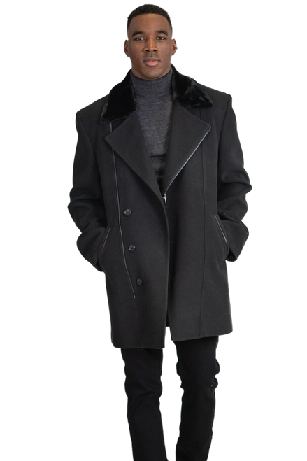 Falcone's new wool-blend coat is perfect for the workday and an elevated look for the weekend.