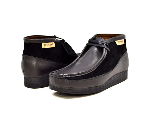 """This Classic British Walker Shoe is an original moccassin style from nature. British Walker's has added it's design to this new style,""""New Castle,"""" to fit for comfort. It comes in leather and suede. The 3/4 design and our patent side design comes in color combinations for your dress style. This comes in a TPR Sole for more feet comfort.  Features:Vintage lace-upHand Crafted Leather and SuedeSole Material: TPRFit:M/W"""
