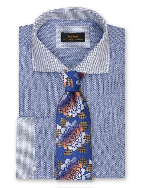 A detailed weave of tile like shapes accented with shimmering lurex that will look sharp at any event on this 100% silk woven Big Knot Tie and Hanky Set, available in different colors and variations.100% SilkIncludes Pocket Square61 inches long3 1/2 inches wideSHIRT NOT INCLUDED.