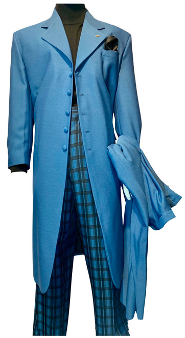 New Sale For Spring! Our exclusive ZOOT SUITS featuring brands like STACY ADAMS GOLD LABEL, FALCONE, VINCI among others will be the rage anywhere. Made of super-fine blended fabric in a true linen weave, in an all year ‰Ûªround weight, making this suit one of the best draping suits available today. The slightly longer silhouette of the stylish seven button single-breasted jacket, and the full fit of the pleated dress slacks make this duo a timeless and fashion forward outfit. The jacket is fully lined with gentleman‰Ûªs size inside pockets for elegance. The slacks are fully dress pant constructed with four generous pockets, a split waistband for easy altering and added comfort.This fabulous suit, the jacket and pant, is exclusively available from Fashion By GQ.Suit Pieces Can Be Worn Together Formally Or Separately Mixed And Matched With More Casual Items.Single Breasted, 7 Button, Notch Lapel Jacket.Full Pleated, Expandable Waist Pants.Available In Purple, Red Apple, Light Brown, Light Blue, Lavender, Navy, Pink, Lime Green, Orange, Yellow & Pastel Colors.