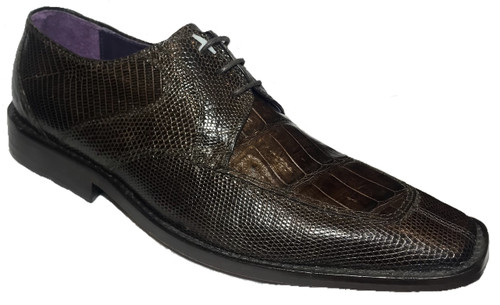 """""""Mory"""" by David x a genuine croocodile and lizard shoe in Brown. Prices are exclusive to online sales."""
