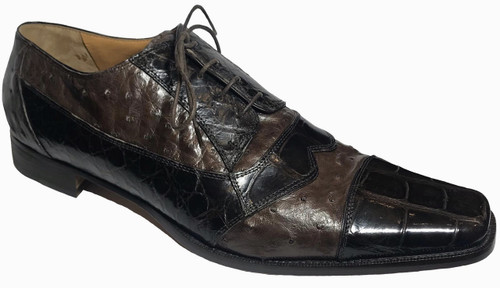 """538"" by Mauri, genuine Alligator belly and genuine Ostrich . Prices are exclusive to online sales."