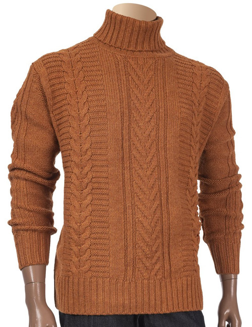 Wool Blend Turtleneck Sweater By Inserch.