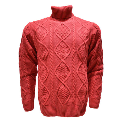 LaVan̩ Cable Sweater. This sweater sports a nice diamond pattern and a unique leather zipper on the collar for that slick look. Prices are exclusive to online sales only.