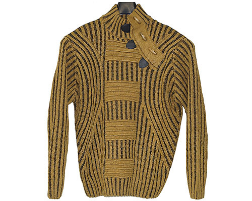 LaVan̩ Cable Sweater. This sweater sports a nice pattern and a unique toggle closure on the collar for that slick look. Prices are exclusive to online sales only.