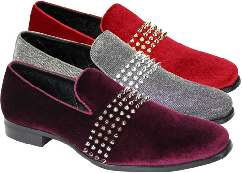 This shoe comes in Royal/Silver, Gunmetal/Silver, Black/Silver, Burgundy/Silver, Black/Gold, Gold/Gold, & Fire Red/Gold. To dress up or even down, this shoe is meant to complete your outfit without saying too much. Prices are exclusive to online sales.